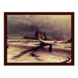 Thaw By Wassiljew Fjodor Alexandrowitsch Postcard