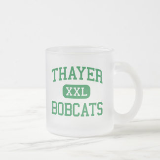 Thayer - Bobcats - High School - Thayer Missouri 10 Oz Frosted Glass Coffee Mug