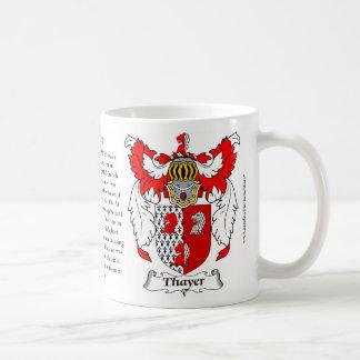 Thayer Family Coat of Arms Coffee Mug