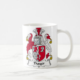 Thayer Family Crest Classic White Coffee Mug