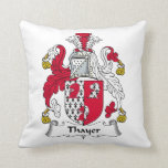 Thayer Family Crest Pillow