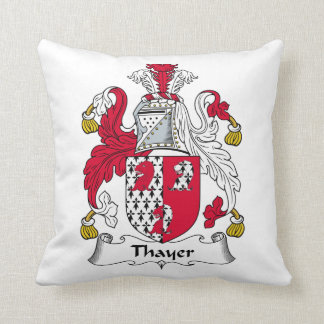 Thayer Family Crest Throw Pillow