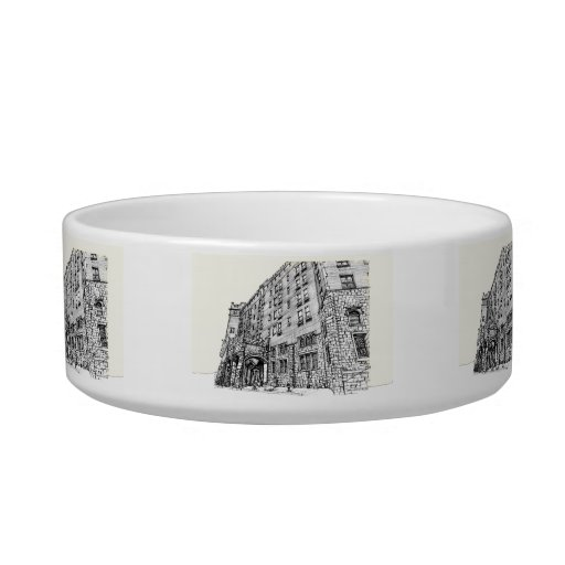 Thayer Hotel cream ivory Cat Water Bowls