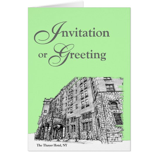 Thayer Hotel in lime green Card