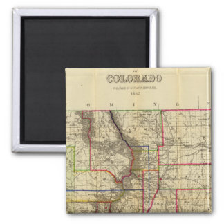 Thayer's map of Colorado 2 2 Inch Square Magnet