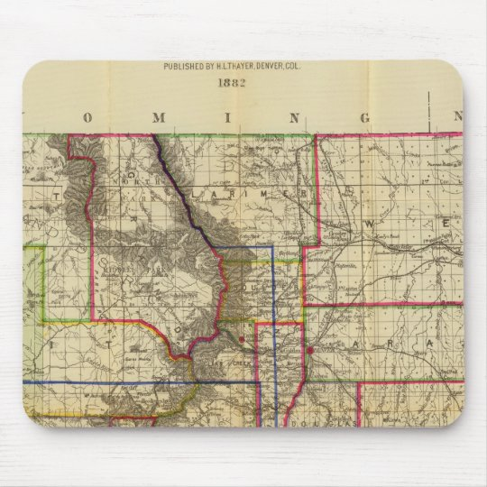 Thayer's map of Colorado 2 Mouse Pad