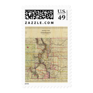 Thayer's map of Colorado 2 Postage Stamp
