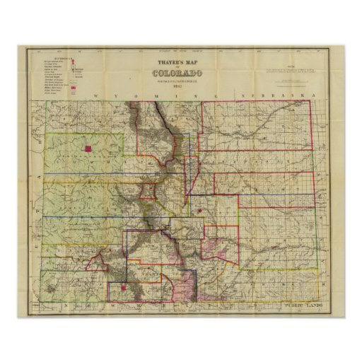 Thayer's map of Colorado 2 Posters