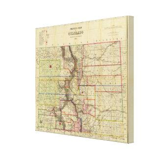 Thayer's map of Colorado Canvas Print