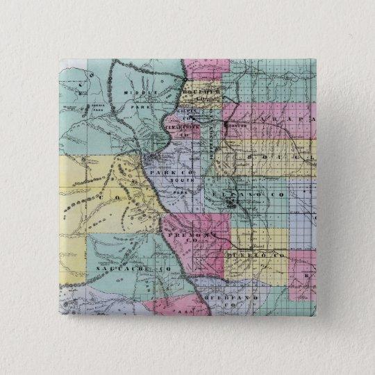 Thayer's Map of Colorado Pinback Button