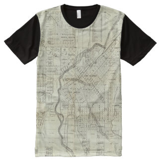 Thayer's Map of Denver Colorado All-Over-Print T-Shirt