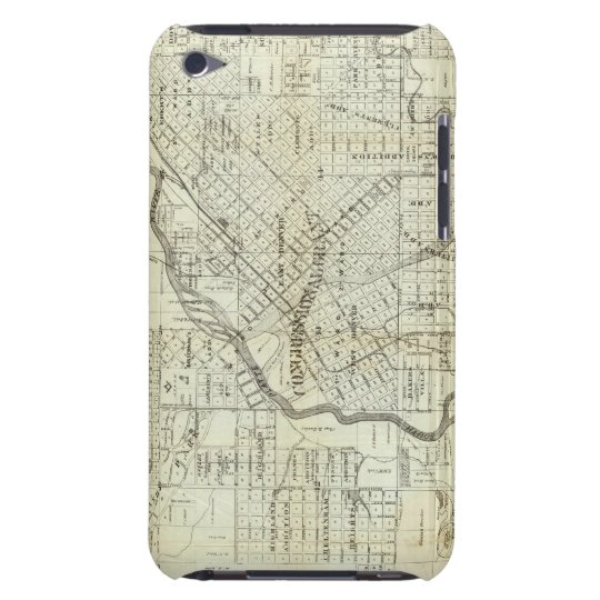Thayer's Map of Denver Colorado iPod Touch Cover