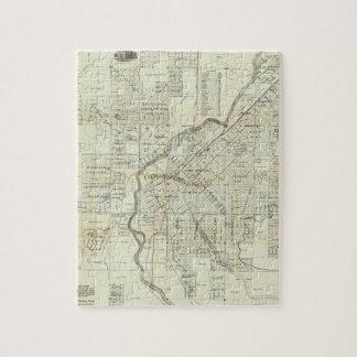 Thayer's Map of Denver Colorado Jigsaw Puzzle