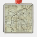 Thayer's Map of Denver Colorado Metal Ornament