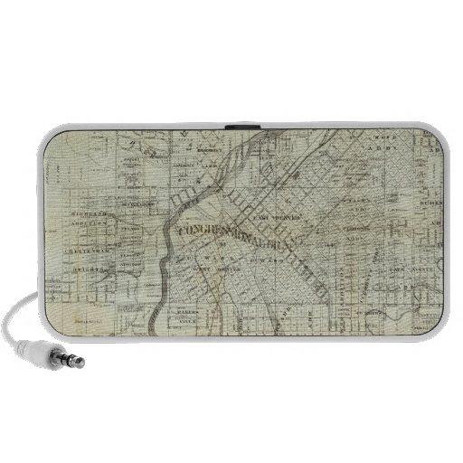 Thayer's Map of Denver Colorado Mini Speaker