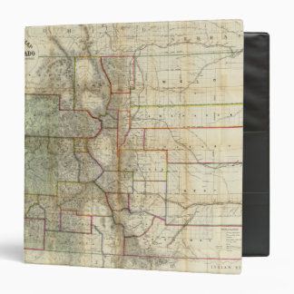 Thayer's New Map Of The State of Colorado Binder