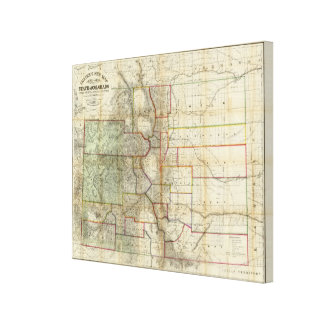Thayer's New Map Of The State of Colorado Gallery Wrapped Canvas