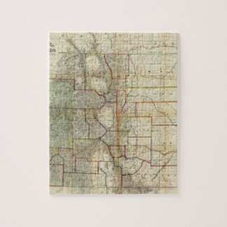 Thayer's New Map Of The State of Colorado Jigsaw Puzzles