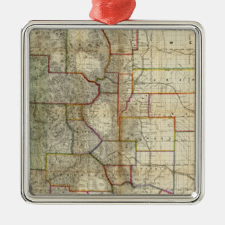Thayer's New Map Of The State of Colorado Metal Ornament