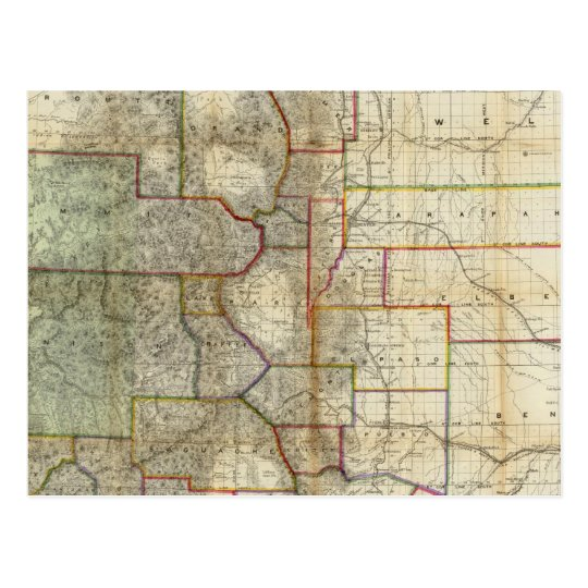 Thayer's New Map Of The State of Colorado Postcard
