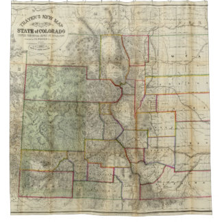 Map Of Colorado Shower Curtains   Zazzle