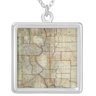Thayer's New Map Of The State of Colorado Square Pendant Necklace