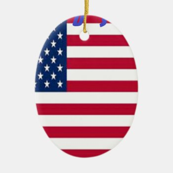 Thcal9p53lusa--400--usa.jpg Ceramic Ornament by CREATIVEBRANDING at Zazzle
