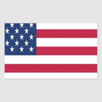 Thcal9p53lusa--400--usa.jpg Rectangular Sticker by CREATIVEBRANDING at Zazzle