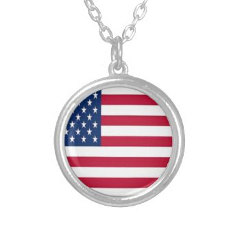 Thcal9p53lusa--400--usa.jpg Round Pendant Necklace by CREATIVEBRANDING at Zazzle