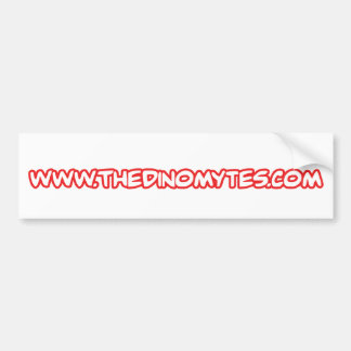 thdinomytes-dot-com car bumper sticker