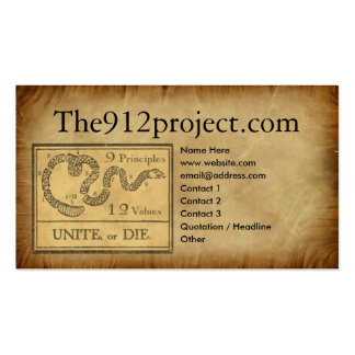 the912project.com Profile Card Business Card