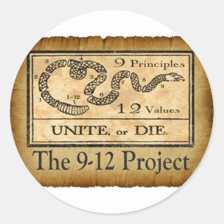 the912project.com une o muere los pegatinas pegatina redonda