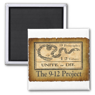 the912project.com unite or die 2 inch square magnet