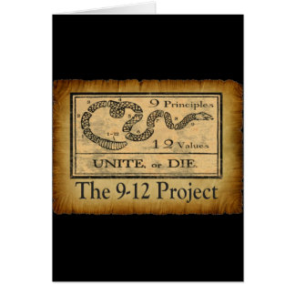 the912project.com unite or die greeting card