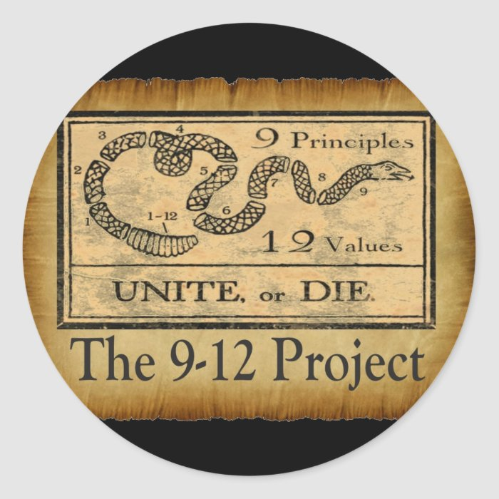 the912project.com unite or die classic round sticker