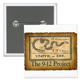 the912project.com unite or die pinback button