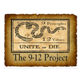 the912project.com unite or die postcard