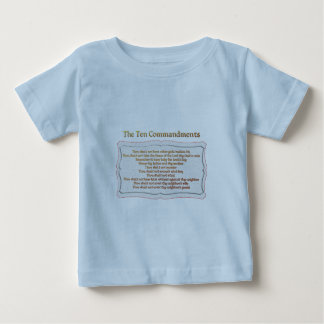 The 10 Commandments Baby T-Shirt
