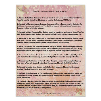 The 10 Commandments for Women Poster