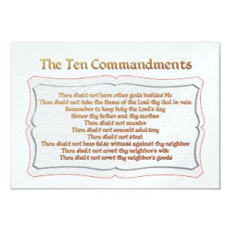 The 10 Commandments 3.5x5 Paper Invitation Card