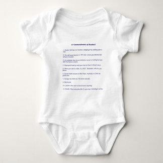 The 10 Commandments of Baseball Baby Bodysuit