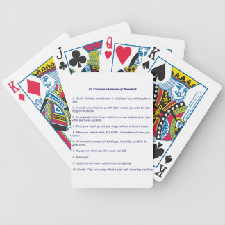 The 10 Commandments of Baseball Bicycle Playing Cards
