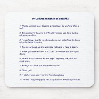 The 10 Commandments of Baseball Mousepads
