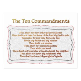 The 10 Commandments Postcard