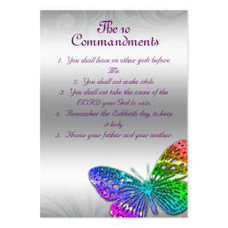 The 10 Commandments Reminder Cards Large Business Card