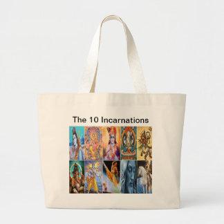The 10 Incarnations Tote Jumbo Tote Bag