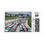 The 110 (Pasadena) Freeway in the early 1960's. Stamps