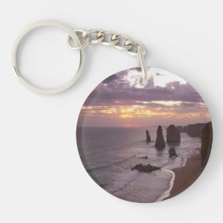 The 12 Apostles in Australia Double-Sided Round Acrylic Key Ring