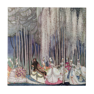 The 12 Dancing Princesses in the Forest by Nielsen Ceramic Tile