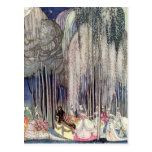 The 12 Dancing Princesses in the Forest by Nielsen Postcard